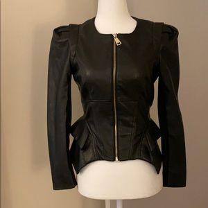 Bebe vegan leather corset jacket